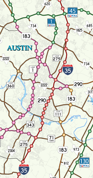 austin double starnd higways